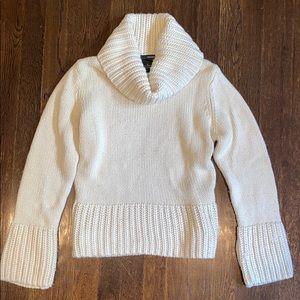 Ivory Cream turtleneck sweater small